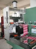 Ultraschallkleid-Kennsatz-aufschlitzende Maschine mit dem Rückspulen (YS-0088)