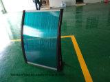 ポリカーボネートの日除けシートのパソコンの屋根ふきのためのプラスチック日よけの緑シート