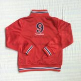 Roupa vermelha do terno do esporte do menino de Tricot do poliéster nos miúdos que vestem Sq-6223