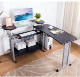 Tabela do computador da mobília de escritório Home com a tabela móvel dobro para o estudo