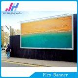 Prima de PVC blanco brillante Frontlit bandera de la flexión de Promoción Comercial