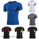 2017 en gros sécher le T-shirt fonctionnant des sports des hommes en bonne santé (A002)