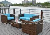 Mobilia esterna del giardino del sofà di vimini del rattan del PE