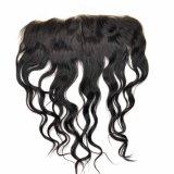 Волосы Remy бразильской девственницы объемной волны шнурка прифронтовой людские