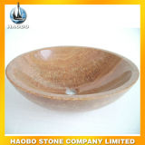 Vaidade do dissipador da embarcação da forma redonda do granito e do mármore para a venda