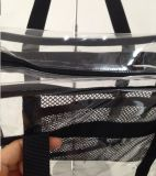 Kundenspezifischer Strand-transparente Handtaschen sehen durch freien Kuriertote-Beutel