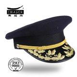 Ensign personalizado chique Headwear da marinha com bordado do ouro