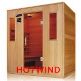 Sauna di legno di Hotwind di sauna di Infrared lontano 2016 per 4 genti (SEK-A4)