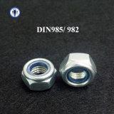 Noix Hex de nylon de l'écrou de blocage DIN985/982