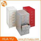 HOME e Office Furniture Red 6 Drawers Movable Metal Filing ou Storage Cabinet