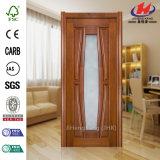 Puerta de madera de cristal del dormitorio liso