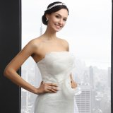 Sleeveless Strapless Mermaid Wedding Dress (Q-027)