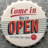 Angleterre Style Metal Signs Decorative Bottle Cap Craft for Decor