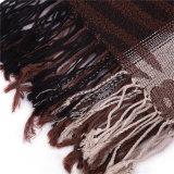 Senhoras longas Khaki Pashmina do xaile do jacquard do lenço viscoso novo do inverno do estilo