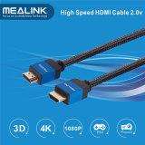 Nylon Gevlechte 24k Goud Geplateerde HDMI 1.4 Kabel 2.0