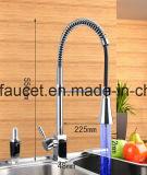 Griff-Küche-Wannen-Hahn des Messing-LED einzelner