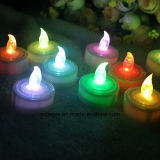 Niedriges White Color Cr2032 LED Tealight Candle mit Timer Function