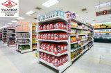 Beiseite legende Bildschirmanzeige baute das Bekanntmachen des Bildschirmanzeige-Supermarkt-Regals zusammen