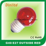ampoule incandescente colorée du globe 15W