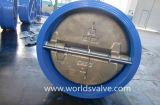 Gummidichtungs-Oblate-Doppelplatten-Rückschlagventil (H41H-16/25)