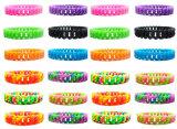 Regalo suave colorido del arco iris de las pulseras de cadena del silicón