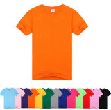 Le T-shirt 100% de polyester de couleur fait sur commande le meilleur marché et de logo