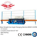 Linha reta de vidro máquina de mudança do ângulo com controle do PLC e rolamento de esferas (bdm12.325pw)