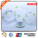 Fiore Design Round Porcelain 18PCS Dinner Set per Kitchen