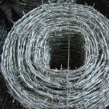 アイオワパターン2つの層4ポイント繊維ワイヤーPVC上塗を施してある有刺鉄線