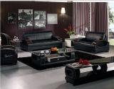 Home SofaのためのGenuine Leatherの現代Leather Sofa Set