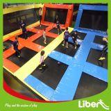 Конструкция места комнаты большая крытая зона Trampline малышей с ямой пены, данком шлема, олимпийским Trampoline размера и играми Dodgeball Pk