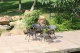 Présidence et table ronde imperméables à l'eau de Brown Textilene de jardin