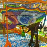 Spielplatz-kletterndes Seil fängt Kinder, im Freienspiel-Netz-Aufstiegs-Ladung-Netz, Subir rotes De