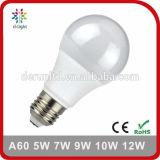 Свет шарика алюминия SMD2835 Ra>80 PF>0.5 5W 7W 8W 9W 10W 12W СИД A60 стандартный E27 B22 пластичный с Ce RoHS