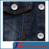 Version europeu de Cotton magro Denim Jacket de Frosted Breathable Men (JC7049)