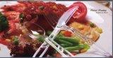 Plastikhandgriff-Besteck-Plastikhelligkeit-Tischbesteck