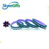 Bracelet de PVC de la coutume 3D avec la qualité bon marché des prix
