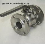 Válvula de esfera do RUÍDO Pn16 Ss304 2PC com Ce e ISO9001