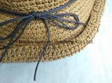 Sombrero de paja tejido mano de papel del 100%