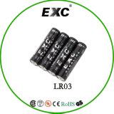 Triplicar-se da pilha de bateria seca 1.5V Lr03 - uma bateria alcalina para acessórios eletrônicos
