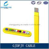 Prix de constructeur de fibre optique plat d'intérieur de la Chine de câble de câble plat de fibre de faisceau de Gjdfjv 4-12 de qualité