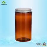 1000ml Dark Brown Plastic Cream Jars with Silver Cap for Tea Packing