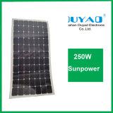 Painel solar flexível aprovado 250W do ISO Sunpower do Ce da fábrica