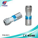 Connecteur de compression de Rg59 RG6 rf pour le câble coaxial de liaison (pH6-5009)