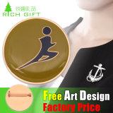 Liberar el precio de fábrica de la insignia RFID del carrete del diseño a la divisa del metal del recuerdo de Canadá