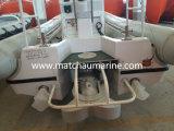 Bateau de sauvetage rapide gonflable semi rigide à grande vitesse de moteur installé dans la cale