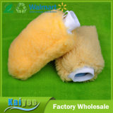 Compensación del producto de limpieza encima del mitón de la colada de coche de la lana de cordero