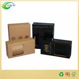 Contenitore di regalo del cartone ondulato della bottiglia di vino con la maniglia (CKT-PB-004)
