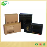 Коробка подарка Corrugated картона бутылки вина с ручкой (CKT-PB-004)