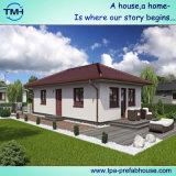 Vorfabriziertes helles Stahlrahmen-Haus im kleinen Entwurf